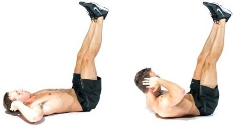 vertical leg crunches sangat efektif untuk mengecilkan perut