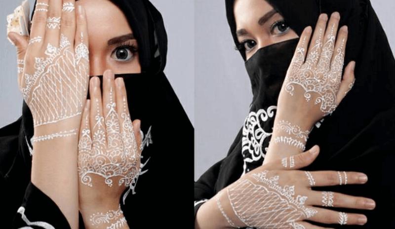 Henna Putih tangan