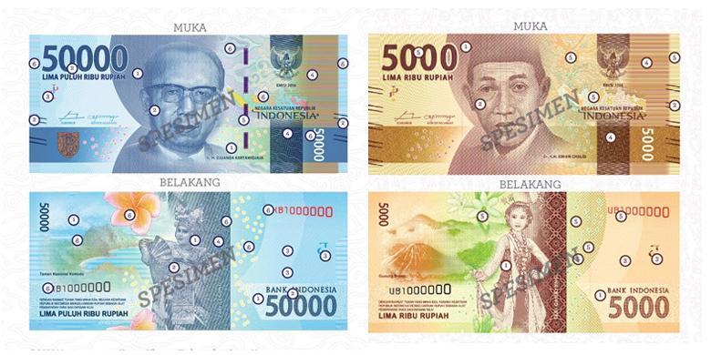 desain uang baru 5 ribu dan 50 ribu