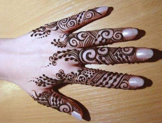 gambar henna jari