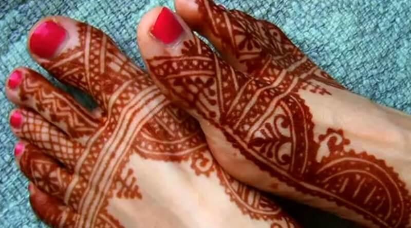 gambar henna kaki
