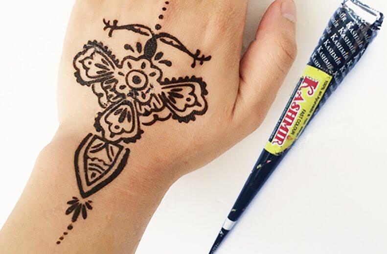 gambar henna pengantin simpel