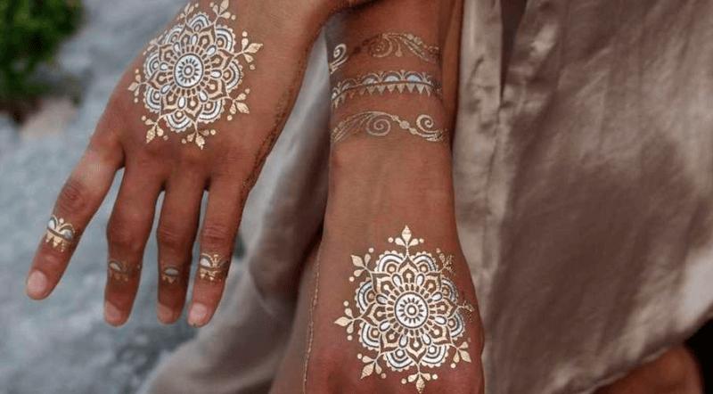 henna putih perak