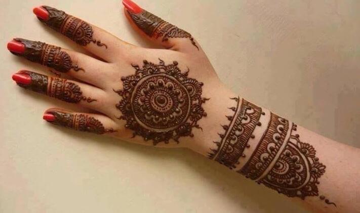 henna tangan cyrcle