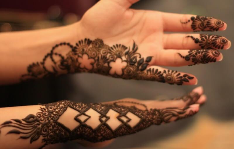 ukiran gambar henna desain