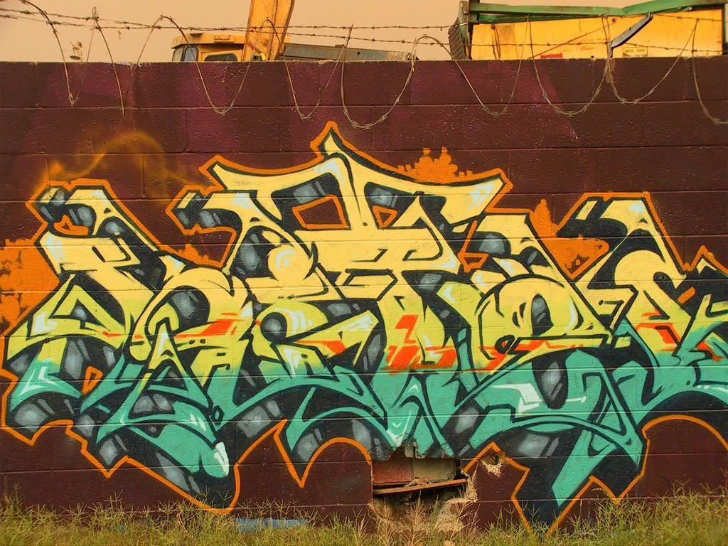 grafiti tulisan tak terbaca