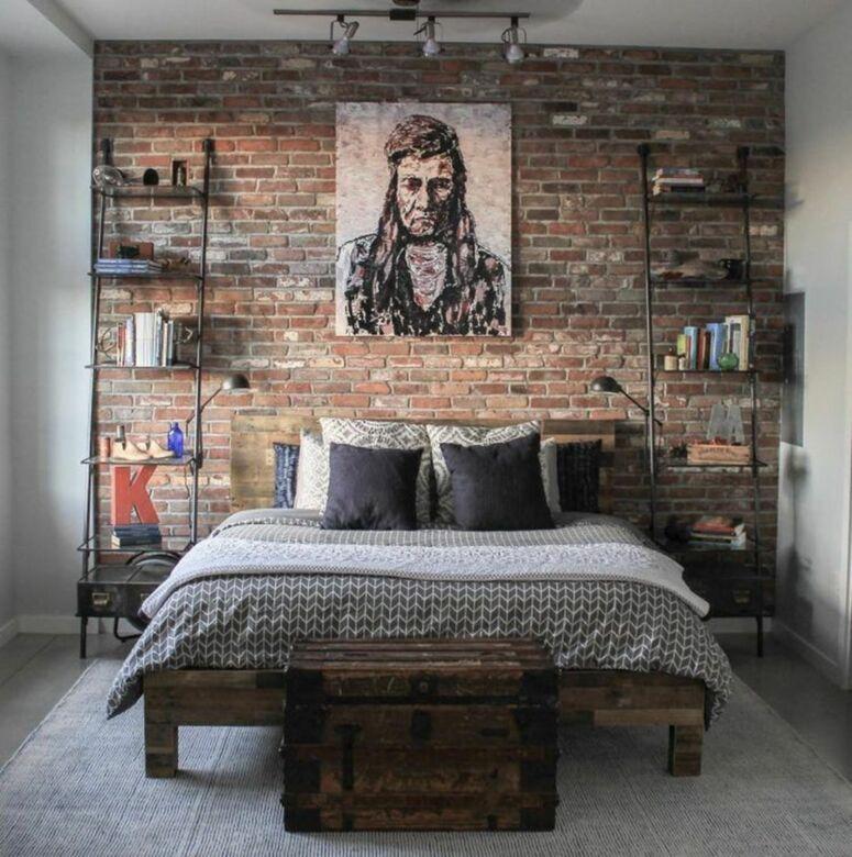 Kamar Tidur Pria dengan Konsep Retro